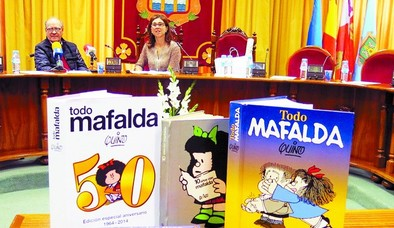 Mafalda huye de la sopa con un Ribera