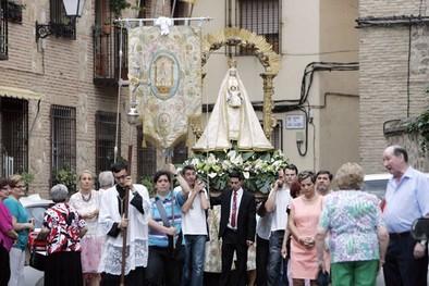La Virgen de la Alegría procesionó desde San Andrés