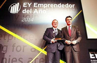 Ernesto Antolín gana el premio Emprendedor del Año 2014 de EY