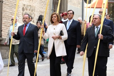 Cospedal asiste al Domingo de Ramos en Toledo