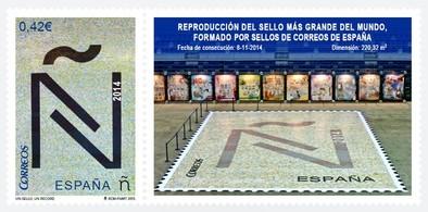 Un sello, un récord: Efecto para el Guinnes conseguido por Correos en Málaga