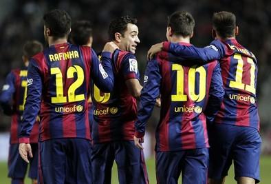 El Barcelona baila al Elche