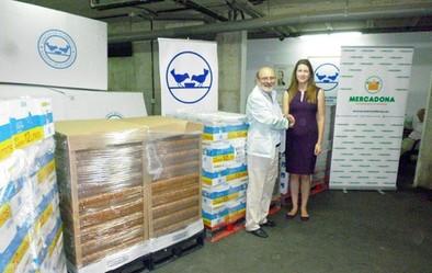 Mercadona dona 2.800 kilos de productos  al Banco de Alimentos