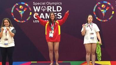 Trinidad Martín logró el primer oro español en los Special Olympics