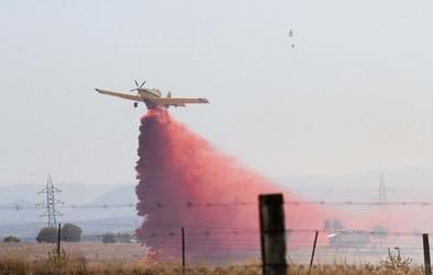 Un incendio en la finca de Las Córdobas devora 100 hectáreas de pequeño arbolado