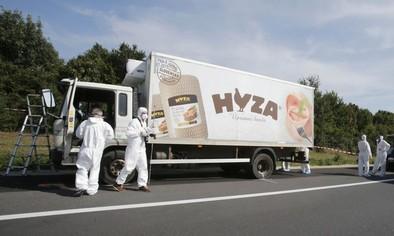 Hallan a decenas de refugiados muertos en un camión en Austria