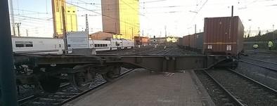 El descarrilamiento de tres vagones de un tren de mercancías en Medina corta el tráfico ferroviario 4 horas