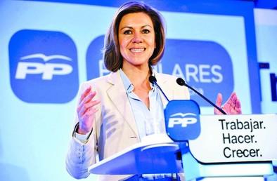 Cospedal advierte de que los pactos contra el PP perjudicarán a España