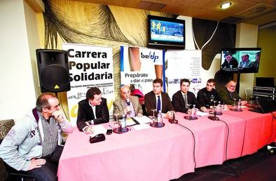 Javier Abad se apunta a la I Carrera Solidaria AEPV