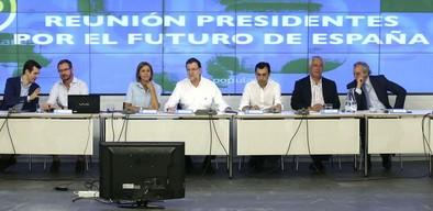 Rajoy insta a los 'populares' a salir a la calle para ganar las elecciones