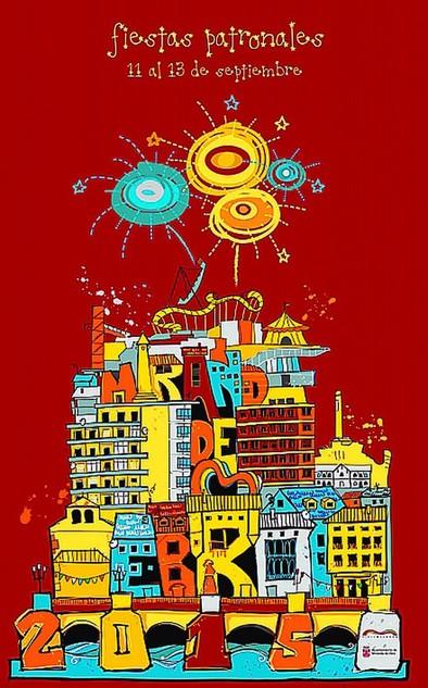 La arquitectura mirandesa se luce en el cartel anunciador  de las fiestas de septiembre