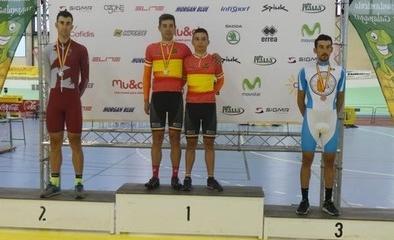 Diego Rubio, subcampeón de España en pista en la modalidad de persecución individual