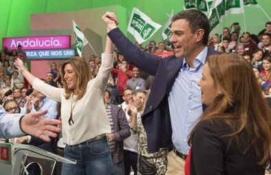 Susana Díaz 'invita' a Sánchez solo a dos mítines durante la campaña