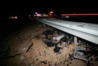 Un coche en sentido contrario produjo el accidente de la A-42