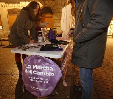 Podemos Valladolid fleta seis autobuses para ir a la manifestación del 31E