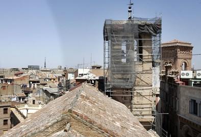 Las obras en la Iglesia de la Magdalena se centran en la torre