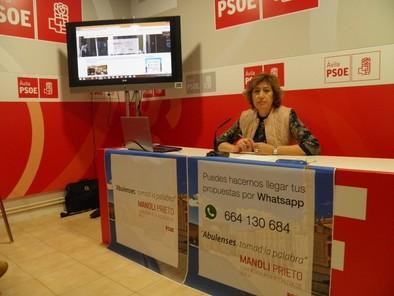 Manoli Prieto habilita una línea de WhatsApp para recibir mensajes de los vecinos