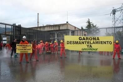 Greenpeace reclama que el cierre de Garoña sea definitivo
