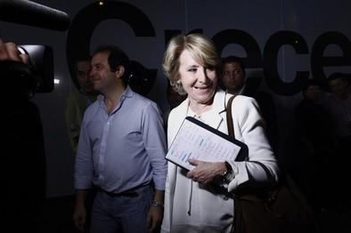La cúpula del PP se adhiere al pacto antiPodemos de Esperanza Aguirre