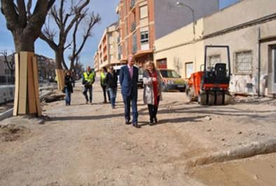 Las obras en la calle Virgen del Pilar concluirán a finales de mes