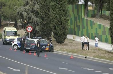 Muere un hombre junto a la Estación de Autobuses cuando conducía su turismo