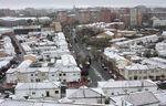 Nevada el día de Viernes Santo en Valladolid