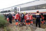 Simulacro de accidente ferroviario en Alcazar