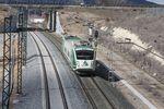 El primer tren circula por la LAV entre Palencia y León