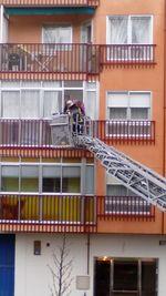 Incendio en un piso del barrio de La Victoria