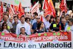 Manifestación de apoyo a los trabajadores de Lauki