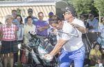 Eduardo Cellés impartió un clinic dentro del torneo Pro-Am de golf del campeonato nacional