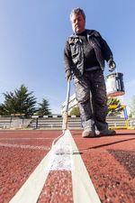 Lavado de cara de las pistas de san Amaro para que puedan seguir albergando competiciones