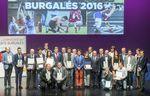 Foto de familia de los premiados en la tradicional Gala del Deporte Burgalés