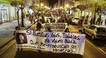 Manifestación por las calles de la capital burgalesa, convocada por la Coordinadora Feminista con motivo del 8 de marzo.