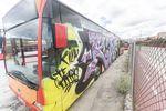 Varios autobuses sufrieron un ataque vandálico en las cocheras de la carretera de Poza.