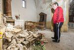 La iglesia de Quintanilla del Monte en Rioja se ecuentra en un penoso estado de conservación