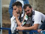 #LosValientesdeBoiro contemplaron desconsolados la abultada derrota del Burgos por 5-1 que le condena a jugar el PlayOut