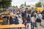 Comida sobre ruedas en el paseo Sierra de Atapuerca: Burgos Food Truck Festival reúne a 15 'gastronetas' frente al MEH.