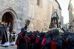 De la iglesia de Santa Águeda parte la procesión de la Soledad