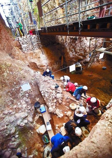 Sima del Elefante. Es el yacimiento más antiguo de Atapuerca y en él se han encontrado restos de hace 1,2 millones. DB/Miguel Ángel Valdivielso