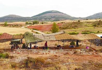 El yacimiento de icnitas Las Sereas es uno de los más extensos. DB