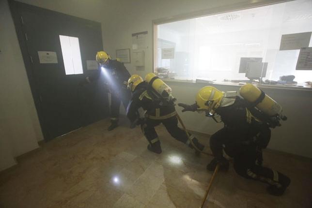 Simulacro de Incendio en la Facultad de Derecho