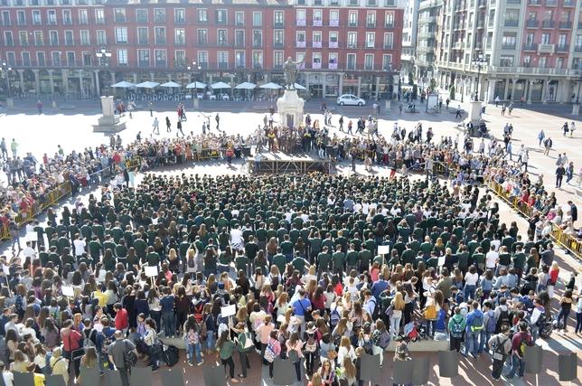 Más de 1.000 niños participarán en la Plaza Mayor de Valladolid en un 'flashmob' organizado por el Colegio Safa-Grial