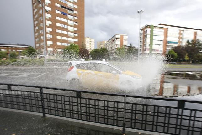 Tromba de agua en Valladolid