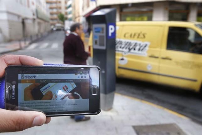 El 5% de las operaciones de la zona azul se realiza ya mediante el pago por móvil