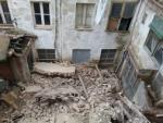 Derrumbe edificio callé Marques de Albaida