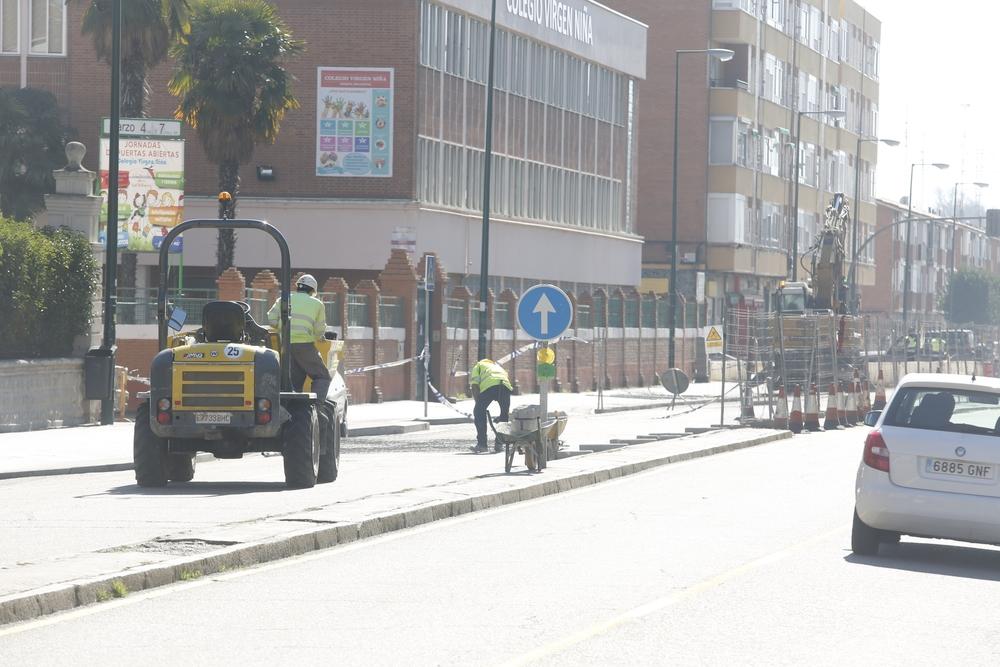 Obras en la Avenida Segovia