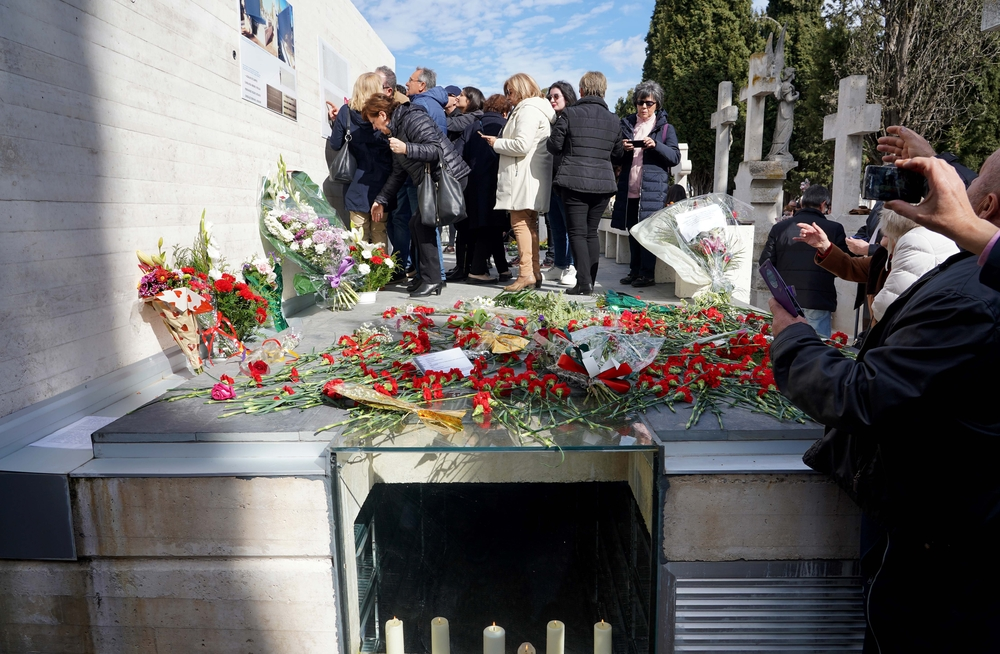 Inauguración del memorial en recuerdo de las víctimas de la represión franquista