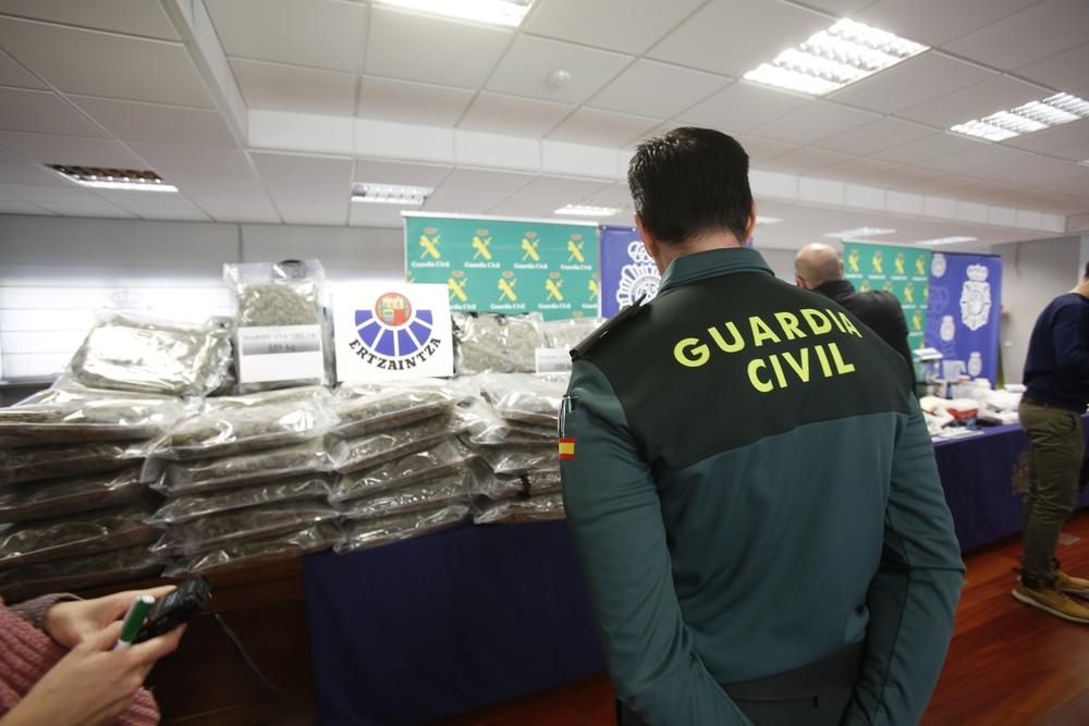 Operación antidroga conjunta de Ertzaintza, Guardia Civil y Policía Nacional