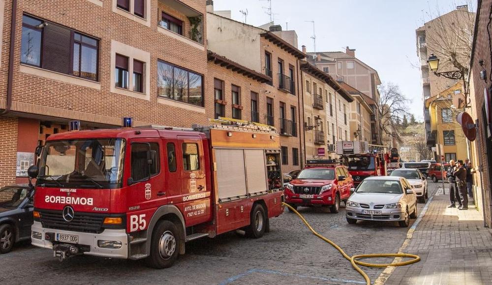 Incendio en un garaje en San Millán
